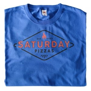 Saturday Pizzas Classic T-Shirt Blue