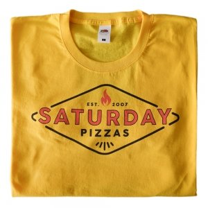 Saturday Pizzas Classic T-Shirt Yellow